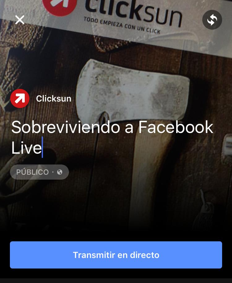 Sobrevivir a Facebook Live
