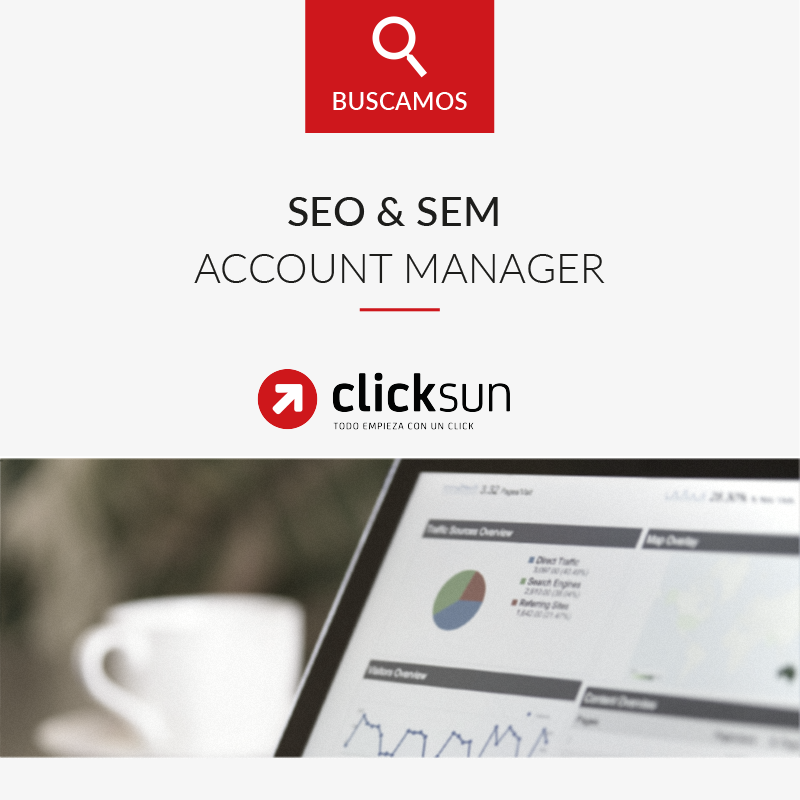 Oferta empleo SEO SEM Account Manager